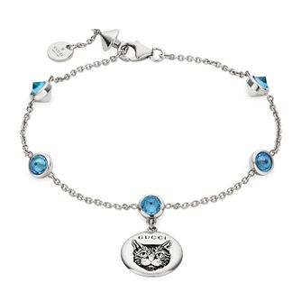 Gucci Blind For Love Ladies' Silver and Blue Bracelet - Product number 4685067