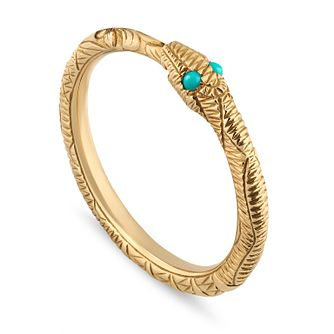 Gucci Ladies' 18ct Gold Ouroboros Ring - Product number 4685660