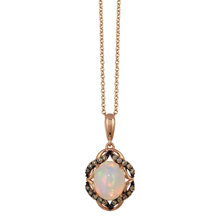 Le Vian 14ct Strawberry Gold Chocolate Opal Pendant - Product number 4685768
