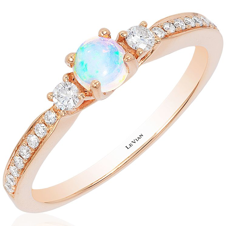 Le Vian 14ct Strawberry Gold Chocolate Opal Stacking Ring - Product number 4685776