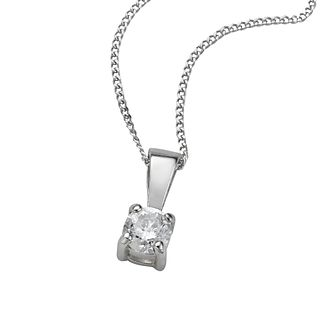 9ct white gold 0.25ct diamond pendant necklace - Product number 4696182