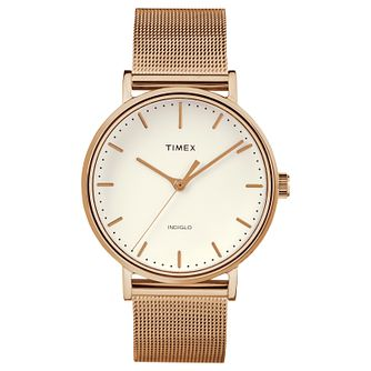 Timex Fairfield Ladies' Rose Gold Plated Bracelet Watch - Product number 4698029