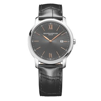 Baume & Mercier Classima Men's Black Strap Watch - Product number 4700104