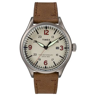 Timex Waterbury Men's Brown Strap Watch - Product number 4703375