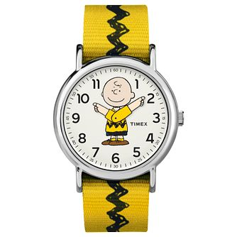 Timex Peanut Collection Charlie Brown Yellow Strap Watch - Product number 4703502