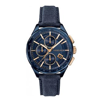Versace Glaze Chrono Men's Blue Strap Watch - Product number 4706137