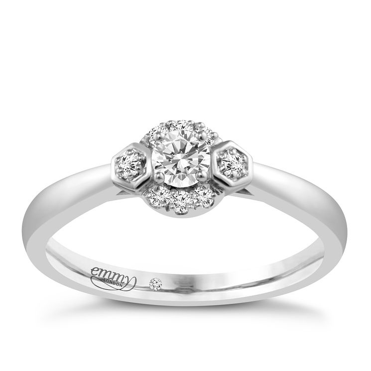 Emmy London Platinum 1/5 Carat Diamond Solitaire Ring - Product number 4706625