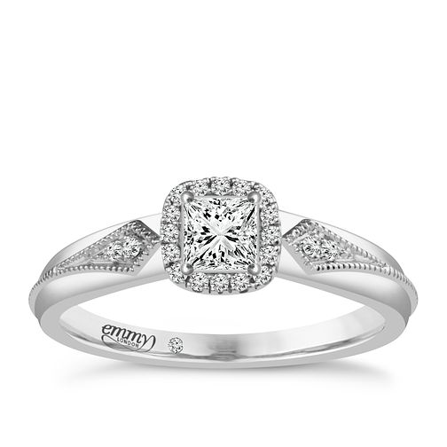 Emmy London Platinum 1/4 Carat Diamond Solitaire Ring - Product number 4707281