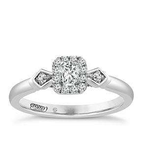 Emmy London 18ct White Gold 1/3 Carat Diamond Solitaire Ring - Product number 4708091