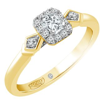 Emmy London 18ct Yellow Gold 1/3ct Diamond Solitaire Ring - Product number 4708229