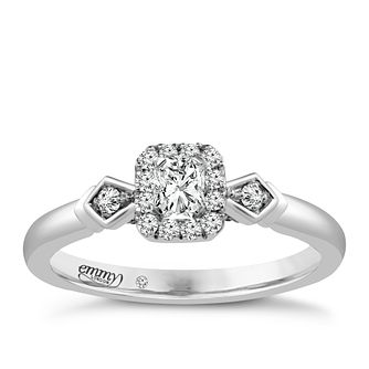 Emmy London Platinum 1/3 Carat Diamond Solitaire Ring - Product number 4708369