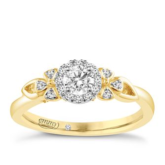 Emmy London 18ct Yellow Gold 1/3ct Diamond Solitaire Ring - Product number 4708768