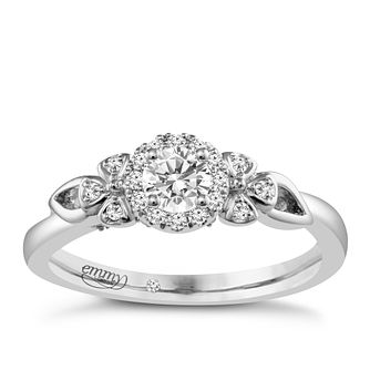 Emmy London Platinum 1/3 Carat Diamond Solitaire Ring - Product number 4708881