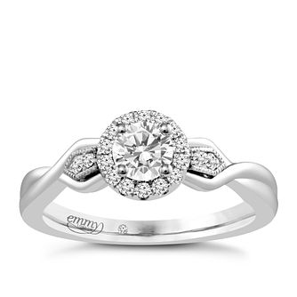 Emmy London 18ct White Gold 2/5 Carat Diamond Solitaire Ring - Product number 4709438