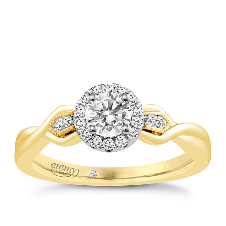 Emmy London 18ct Yellow Gold 2/5ct Diamond Solitaire Ring - Product number 4709551