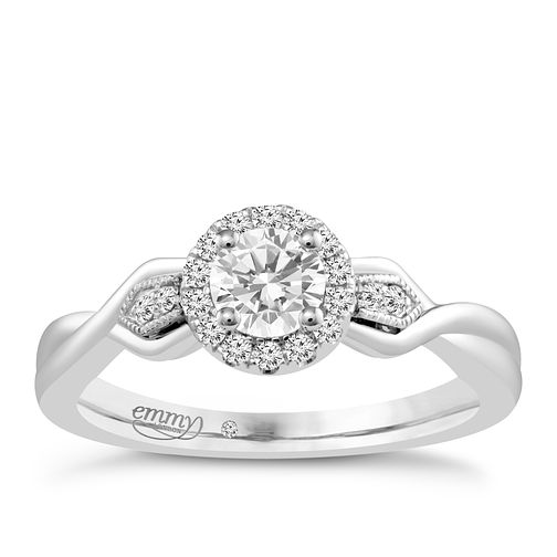 Emmy London Platinum 2/5 Carat Diamond Solitaire Ring - Product number 4709845