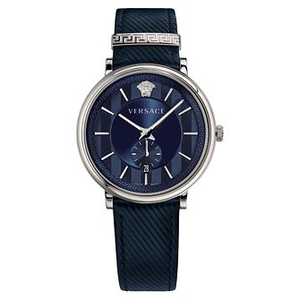 Versace V-Circle Men's Blue Strap Watch - Product number 4711254