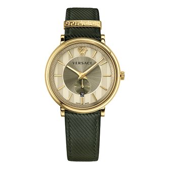 Versace V-Circle Men's Green Strap Watch - Product number 4711262