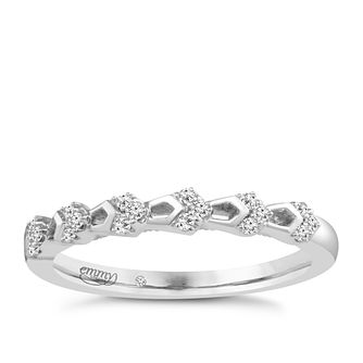 Emmy London Palladium Diamond Set Ring - Product number 4711874