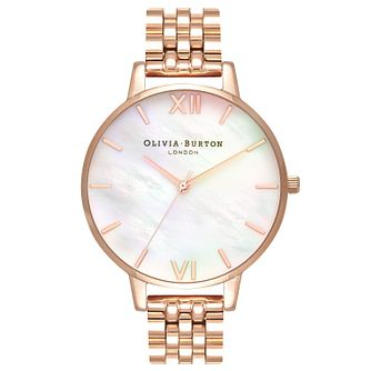 Olivia Burton Rose Gold Plated Mother of Pearl Watch - Product number 4718674