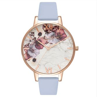 Olivia Burton Rose Gold Plated Marble Multi Strap Watch - Product number 4719174