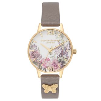 Olivia Burton Yellow Gold Plated Enchanted Strap Watch - Product number 4722108