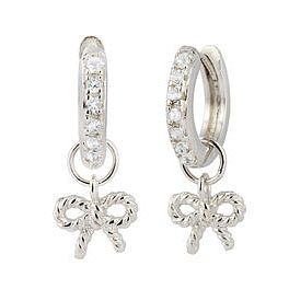 Olivia Burton Vintage Bow Silver & Crystal Hoop Earrings - Product number 4722221
