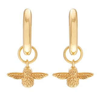 Oliva Burton Yellow Gold Plated Queen Bee Drop Earrings - Product number 4722558