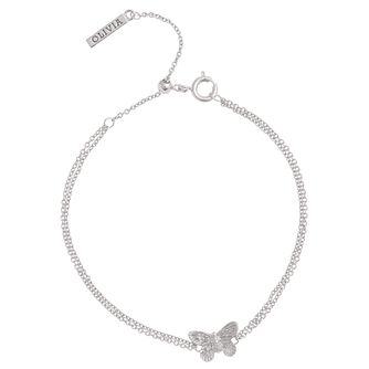 Olivia Burton Rhodium Plated 3D Butterfly Braclet - Product number 4722582