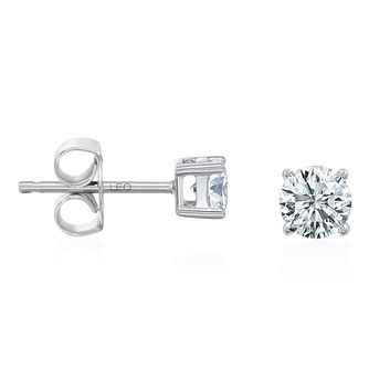 Leo Diamond 18ct White Gold 1/2ct Diamond Earrings - Product number 4725379