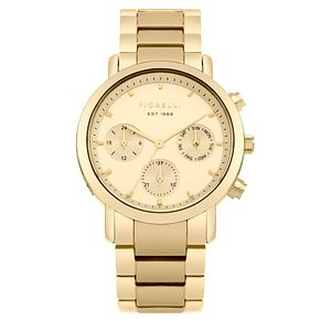 Fiorelli Ladies' Gold Dial Gold Bracelet Watch - Product number 4729331