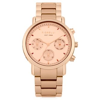 Fiorelli Ladies' Rose Gold Dial Rose Gold Bracelet Watch - Product number 4729366