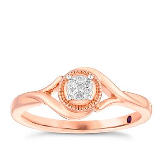 Cherished 9ct Rose Gold Diamond Round Cluster Ring - Product number 4731557