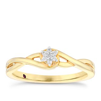 Cherished 9ct Gold Diamond Round Cluster Ring - Product number 4731832