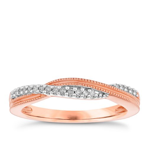 9ct Rose Gold Diamond Set Eternity Ring - Product number 4732081