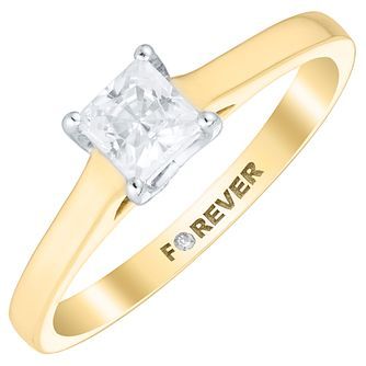 9ct Gold Forever Diamond Solitaire Ring - Product number 4734270