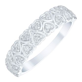 Sterling Silver 0.12 Carat Diamond Set Eternity Ring - Product number 4749561