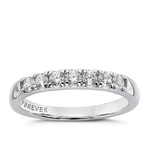 Platinum 1/3 Carat Forever Diamond Eternity Ring - Product number 4755200