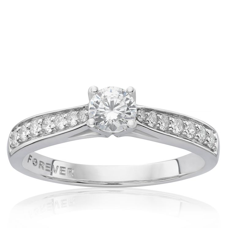 Platinum 1/2 Carat Forever Diamond Ring - Product number 4756150