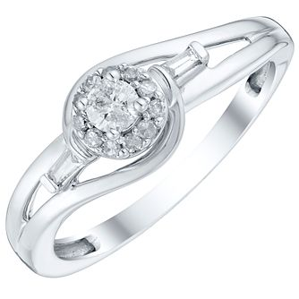 9ct White Gold 1/5 Carat Diamond Solitaire Ring - Product number 4757696