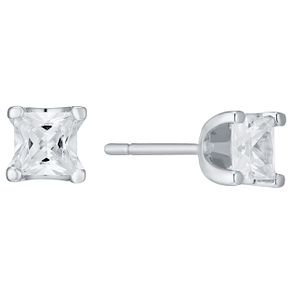 18ct White Gold 1/2 Carat Forever Diamond Earrings - Product number 4759931