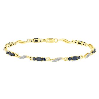 9ct Gold Sapphire & Diamond Set Bracelet - Product number 4760697