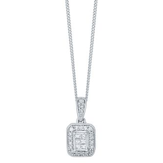 9ct White Gold 0.13ct Diamond Perfect Fit Pendant - Product number 4761804