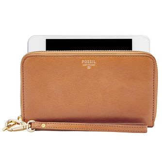 Fossil Ladies' Camel Phone Wallet - Product number 4769066