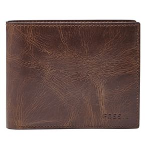 Fossil Men's Brown Leather Coin Wallet - Product number 4769406