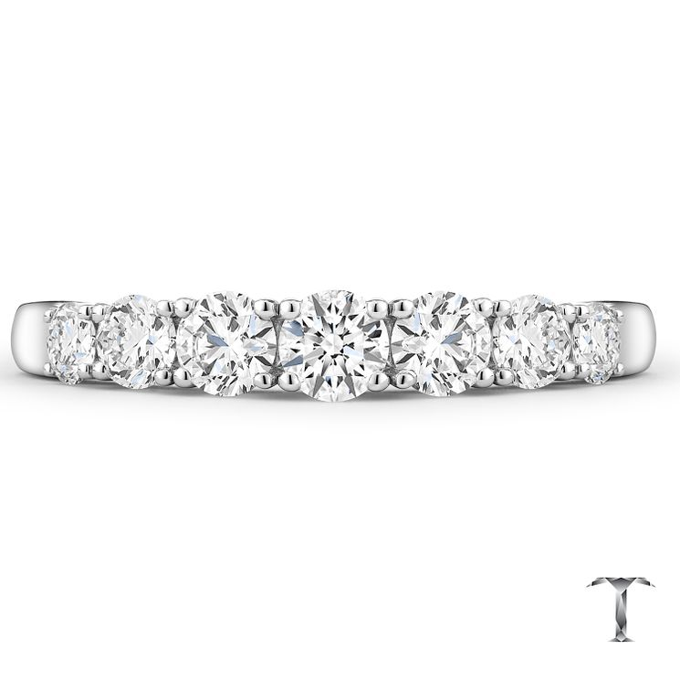 Tolkowsky 18ct White Gold 0.75ct 7 Stone Band - Product number 4772563