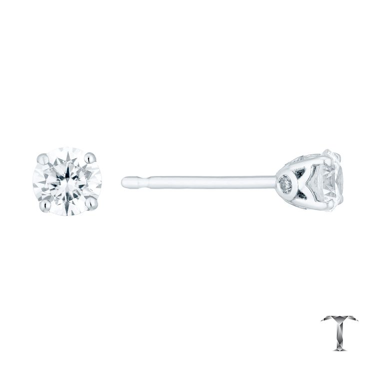 Tolkowsky 18ct White Gold 0.54ct Diamond Stud Earrings - Product number 4773144