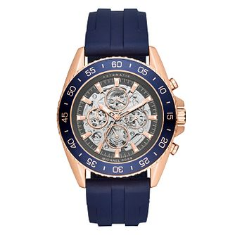 Michael Kors Jetmaster Men's Rose Gold Tone Strap Watch - Product number 4777964