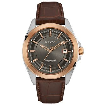 Bulova Precisionist Men's Two Colour Strap Watch - Product number 4785460
