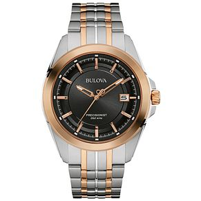 Bulova Precisionist Men's Two Colour Bracelet Watch - Product number 4785495